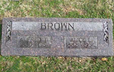 BROWN, ALICE L. - Benton County, Arkansas | ALICE L. BROWN - Arkansas Gravestone Photos