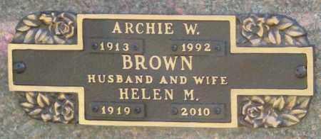 BROWN, ARCHIE W. - Benton County, Arkansas | ARCHIE W. BROWN - Arkansas Gravestone Photos