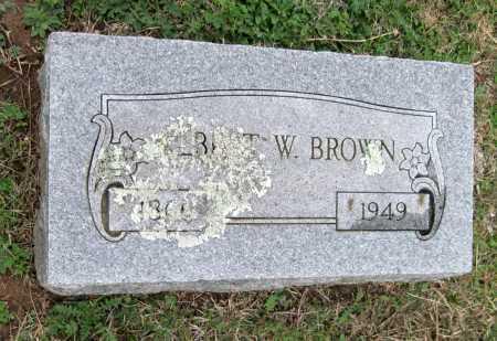 BROWN, ALBERT W. - Benton County, Arkansas | ALBERT W. BROWN - Arkansas Gravestone Photos