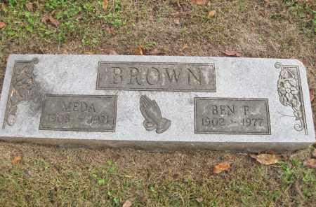 BROWN, MEDA - Benton County, Arkansas   MEDA BROWN - Arkansas Gravestone Photos