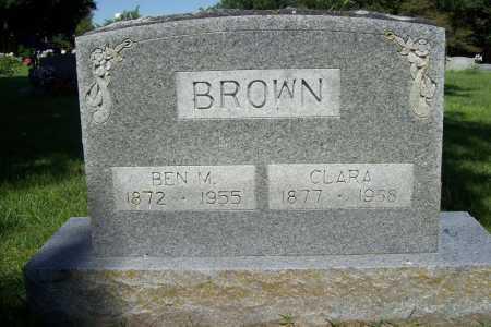 BROWN, BEN M. - Benton County, Arkansas | BEN M. BROWN - Arkansas Gravestone Photos