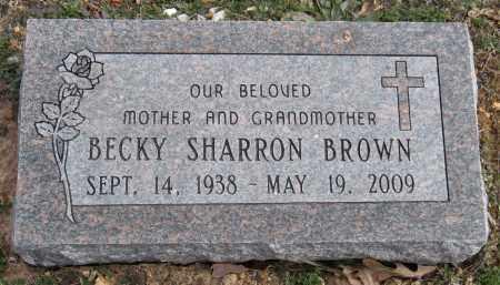 BROWN, BECKY SHARRON - Benton County, Arkansas | BECKY SHARRON BROWN - Arkansas Gravestone Photos
