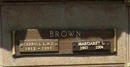 BROWN, CARROLL A. M.D. - Benton County, Arkansas | CARROLL A. M.D. BROWN - Arkansas Gravestone Photos