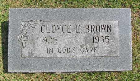 BROWN, CLOYCE E - Benton County, Arkansas | CLOYCE E BROWN - Arkansas Gravestone Photos