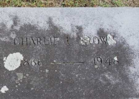 BROWN, CHARLIE L. (CLOSEUP) - Benton County, Arkansas   CHARLIE L. (CLOSEUP) BROWN - Arkansas Gravestone Photos