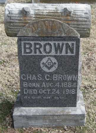 BROWN, CHARLES C. - Benton County, Arkansas | CHARLES C. BROWN - Arkansas Gravestone Photos