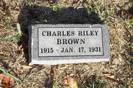 BROWN, CHARLES RILEY - Benton County, Arkansas | CHARLES RILEY BROWN - Arkansas Gravestone Photos