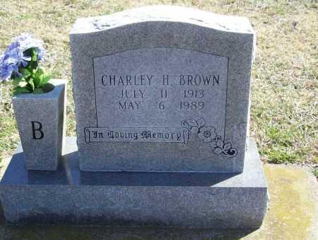BROWN, CHARLEY H. - Benton County, Arkansas | CHARLEY H. BROWN - Arkansas Gravestone Photos