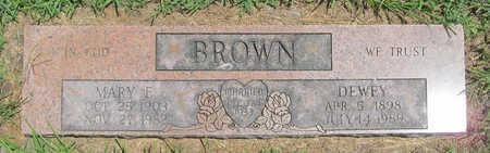 BROWN, DEWEY - Benton County, Arkansas   DEWEY BROWN - Arkansas Gravestone Photos