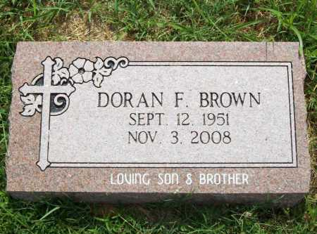 BROWN, DORAN F. - Benton County, Arkansas | DORAN F. BROWN - Arkansas Gravestone Photos
