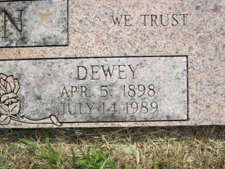 BROWN, DEWEY (CLOSEUP) - Benton County, Arkansas | DEWEY (CLOSEUP) BROWN - Arkansas Gravestone Photos