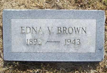 BROWN, EDNA V. - Benton County, Arkansas   EDNA V. BROWN - Arkansas Gravestone Photos