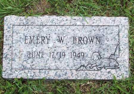 BROWN, EMERY W. - Benton County, Arkansas | EMERY W. BROWN - Arkansas Gravestone Photos