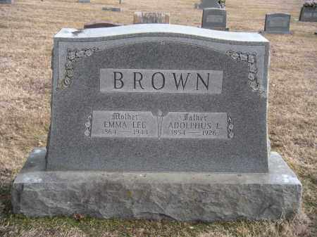BROWN, ADOLPHUS L - Benton County, Arkansas | ADOLPHUS L BROWN - Arkansas Gravestone Photos