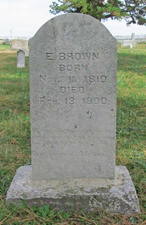 BROWN, E. - Benton County, Arkansas | E. BROWN - Arkansas Gravestone Photos