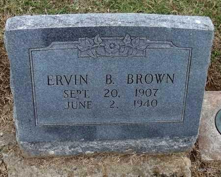 BROWN, ERVIN B. - Benton County, Arkansas | ERVIN B. BROWN - Arkansas Gravestone Photos