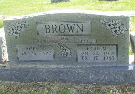 BROWN, FRED MONROE - Benton County, Arkansas | FRED MONROE BROWN - Arkansas Gravestone Photos