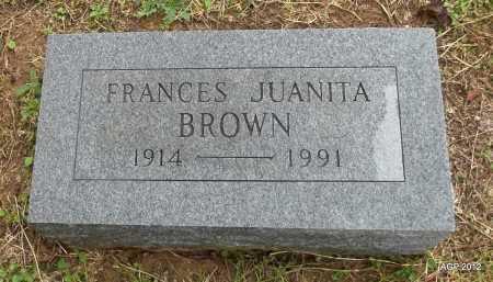 BROWN, FRANCES JUANITA - Benton County, Arkansas | FRANCES JUANITA BROWN - Arkansas Gravestone Photos