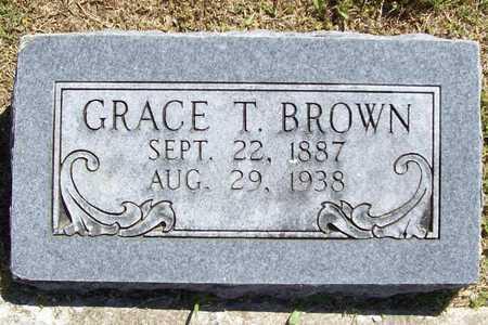 BROWN, GRACE T - Benton County, Arkansas | GRACE T BROWN - Arkansas Gravestone Photos