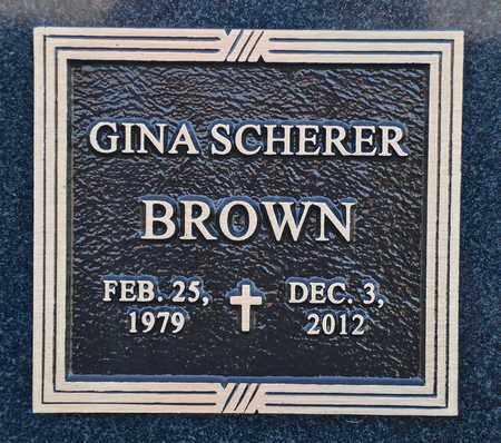 BROWN, GINA SCHERER - Benton County, Arkansas | GINA SCHERER BROWN - Arkansas Gravestone Photos