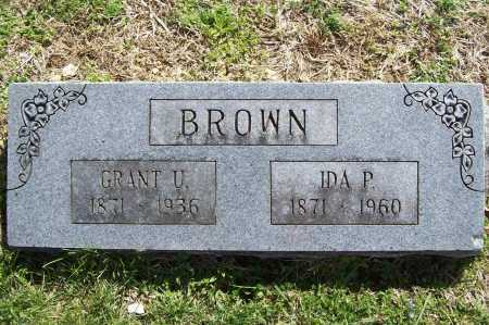 BROWN, GRANT U. - Benton County, Arkansas | GRANT U. BROWN - Arkansas Gravestone Photos