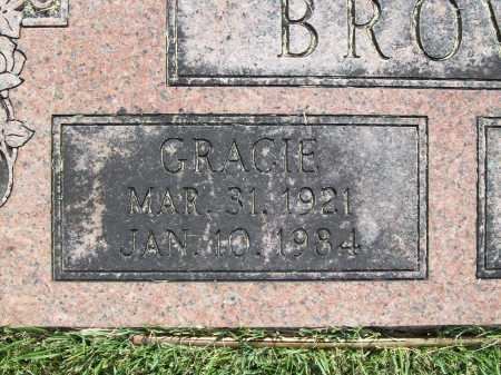 BROWN, GRACIE (CLOSEUP) - Benton County, Arkansas | GRACIE (CLOSEUP) BROWN - Arkansas Gravestone Photos