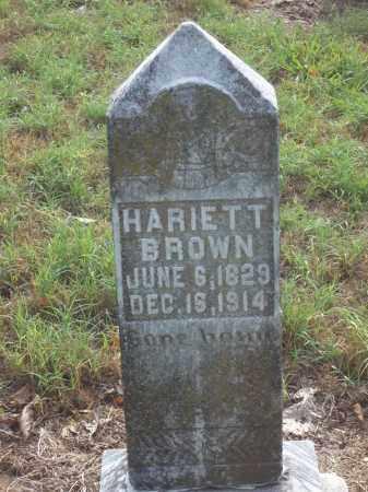 BROWN, HARIETT - Benton County, Arkansas   HARIETT BROWN - Arkansas Gravestone Photos