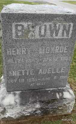 BROWN, HENRY MONROE - Benton County, Arkansas | HENRY MONROE BROWN - Arkansas Gravestone Photos