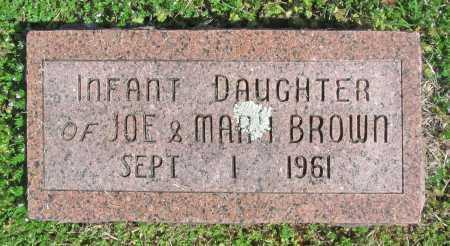BROWN, INFANT DAUGHTER - Benton County, Arkansas | INFANT DAUGHTER BROWN - Arkansas Gravestone Photos