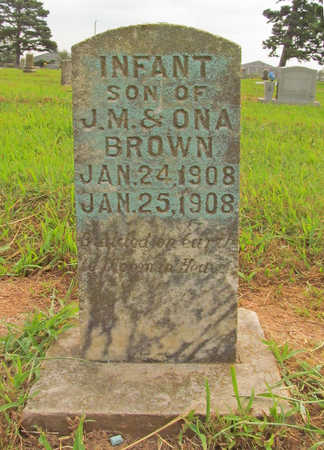BROWN, INFANT SON - Benton County, Arkansas | INFANT SON BROWN - Arkansas Gravestone Photos