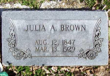 BROWN, JULIA A - Benton County, Arkansas | JULIA A BROWN - Arkansas Gravestone Photos