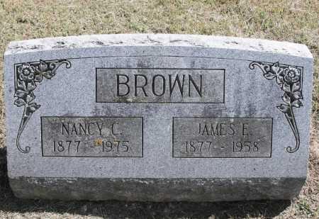 BROWN, JAMES E. - Benton County, Arkansas | JAMES E. BROWN - Arkansas Gravestone Photos
