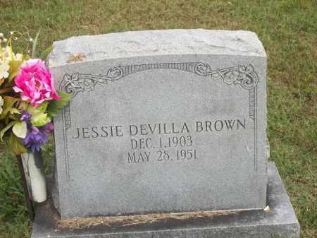 BROWN, JESSIE DEVILLA - Benton County, Arkansas | JESSIE DEVILLA BROWN - Arkansas Gravestone Photos