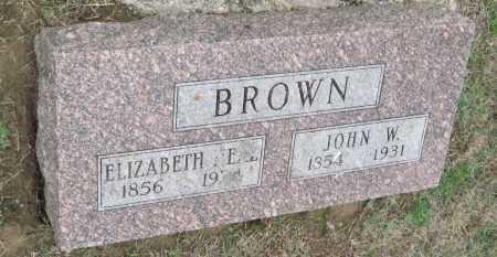BROWN, JOHN W. - Benton County, Arkansas | JOHN W. BROWN - Arkansas Gravestone Photos