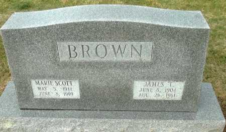 BROWN, JAMES T. - Benton County, Arkansas | JAMES T. BROWN - Arkansas Gravestone Photos