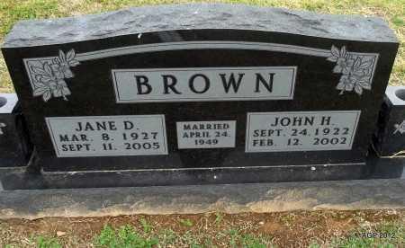 BROWN, JANE D. - Benton County, Arkansas | JANE D. BROWN - Arkansas Gravestone Photos