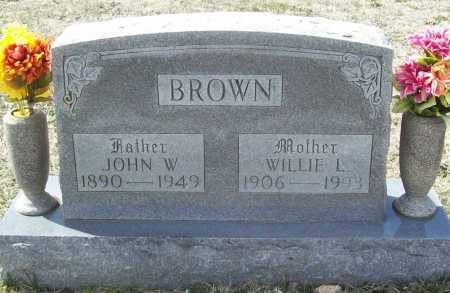 BROWN, WILLIE L. - Benton County, Arkansas | WILLIE L. BROWN - Arkansas Gravestone Photos