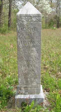 BROWN, JOSIE - Benton County, Arkansas | JOSIE BROWN - Arkansas Gravestone Photos