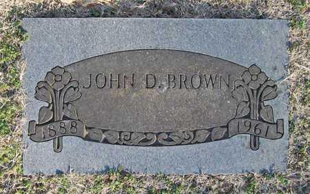BROWN, JOHN D - Benton County, Arkansas   JOHN D BROWN - Arkansas Gravestone Photos