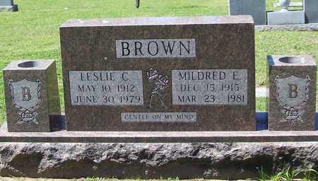 BROWN, LESLIE C - Benton County, Arkansas | LESLIE C BROWN - Arkansas Gravestone Photos