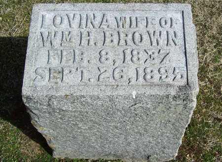 BROWN, LOVINA - Benton County, Arkansas | LOVINA BROWN - Arkansas Gravestone Photos