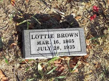 BROWN, LOTTIE - Benton County, Arkansas   LOTTIE BROWN - Arkansas Gravestone Photos