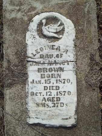 BROWN, LEOINEA A - Benton County, Arkansas | LEOINEA A BROWN - Arkansas Gravestone Photos
