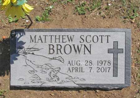 BROWN, MATTHEW SCOTT - Benton County, Arkansas | MATTHEW SCOTT BROWN - Arkansas Gravestone Photos
