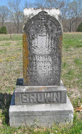 BROWN, MARTHA MALINDA - Benton County, Arkansas   MARTHA MALINDA BROWN - Arkansas Gravestone Photos