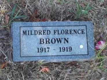 BROWN, MILDRED FLORENCE - Benton County, Arkansas | MILDRED FLORENCE BROWN - Arkansas Gravestone Photos