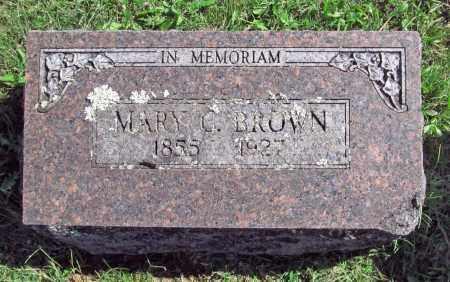 BROWN, MARY C. - Benton County, Arkansas | MARY C. BROWN - Arkansas Gravestone Photos