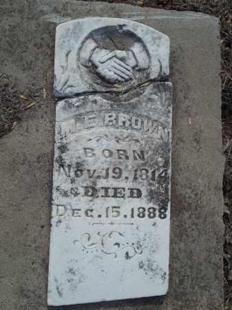 BROWN, M. E. - Benton County, Arkansas   M. E. BROWN - Arkansas Gravestone Photos