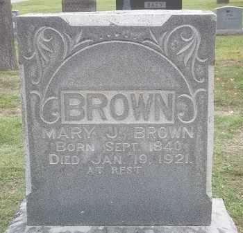 BROWN, MARY J. - Benton County, Arkansas   MARY J. BROWN - Arkansas Gravestone Photos