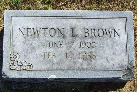 BROWN, NEWTON L - Benton County, Arkansas | NEWTON L BROWN - Arkansas Gravestone Photos